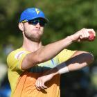 Michael Rae rolls his arm over at training at the University of Otago Oval yesterday. PHOTO:...