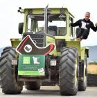 Mental health advocate Mike King stops for a talk at Farmlands Taieri yesterday during the...
