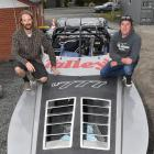 Driver Regan Williamson (right) and navigator Blair Christmas with their Tally's U777 jet-boat ...