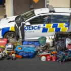 A large amount of stolen property was found during a police raid at a Mosgiel house last week....