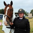 Invercargill rider Michelle Coombes celebrates her birthday with horse Just Amber at the...