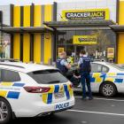 Police officers enforcing the Covid-19 lockdown paid a visit to a Crackerjack store in Hamilton...