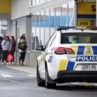 Police were called to the supermarket in South Dunedin on Monday. Photo: Peter McIntosh