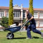 Otago Girls High School groundsman Peter Grimsey is always on the go. Photo: Stephen Jaquiery