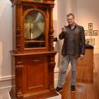 Toitu Otago Settlers Museum acting visitor experience manager Tim Cornelius prepares to put a...