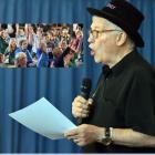 Quizzing Otago schoolchildren all about books is international quizmaster Wayne Mills.  PHOTOS:...