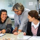Speld NZ course director Eleanor Boyce (centre) gives guidance on educating children with...
