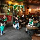 Dancing on St Patrick's Day at The Bog. Photo: Geoff Sloan