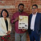 Dunedin Multi-Ethnic Council (from left) treasurer Rebekah Wolfe, president Luxmanan Selvanesan...