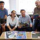 Organising team members (from left) projects co-ordinator Eliott Delsart, festival associate...