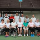 Burnside Park Tennis Club's committed group of over-80s tennis players who meet twice a week....