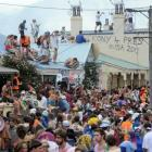 Revellers at an earlier Hyde St Party. Photo: ODT