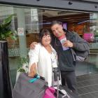 Therese Mitchell and Brett MacDonald contemplate their ruined trip at Rome Fiumicino Airport....