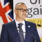 Health minister Dr David Clark addresses the media. PHOTO: GETTY IMAGES