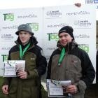 Teamwork ... Southland boys Ollie Trusler (left) and Josh Bennett, pictured after winning third...