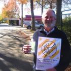 Ashburton College principal Ross Preece at the school gates on Tuesday.