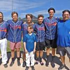 Selwyn Baseball president Andrew Fleck (left) with fellow club members Te Ahu Wall, Blake Hardy,...