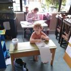 School's in . . . Sophia (8) and Jonah (6) Kimpton of Cromwell are prepared for the first...