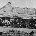 The Popotunoa-Balclutha and Invercargill coaches ready to leave Clinton. Driving  the Balclutha...