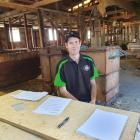 First place . . . Chairman Hamish Holland takes the top spot for Timaru's Young Farmer of the...