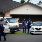 Police are searching a West Auckland property linked to a man whose remains were found buried off...