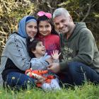 The Matar family (from left) Rusul, Rawia (3), Fadia (10) and Fadi at their new home in Pine Hill...