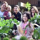 Self-sufficient ... Tending to the family vegetable garden in Sawyers Bay, Dunedin, are (from...