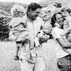Gavin Dowling will be missed by wife Rosie Dowling, and children (from left) Digby (2), Olive (9...