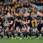 The All Blacks perform the haka in Australia last year, a potential location for all their Rugby...