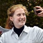 Otago Girls' High School pupil Henrietta Finney Waters (15) rehearses her speech for the Race...