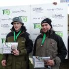 Southland boys Ollie Trusler (left) and Josh Bennett, pictured after winning third place in the...