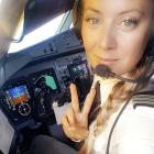 Grounded but not locked down: Swedish pilot and former Queenstowner Julia Lonnerheden. Photo:...