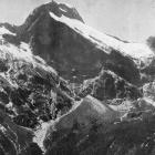 Mount Elliott and Jervois Glacier, showing the head of the Arthur Valley from the MacKinnon Pass...