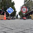 The Octagon central carriageway in Dunedin remains closed but will reopen next Monday, as part of...
