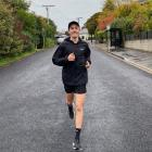 Dunedin middle-distance runner Oli Chignell gets in a training run yesterday. PHOTO SUPPLIED
