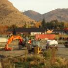 Hospital foundation works under way beside Queenstown Country Club. Photo: Mountain Scene