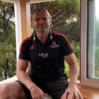 Crusaders coach Scott Robertson has been keeping busy at his home in Sumner. Photo: Supplied