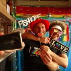 Winter Pride directors Martin King, left, and husband Mike Hughes before the 2018 event. Photo:...