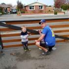 Baker Matt Harvey with son Thomas. Photo: Ashburton Courier
