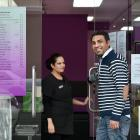 Only UR's Beauty Parlour co-owners Sukhbir Kaur (left) and Jasmeet Madan open their business for...