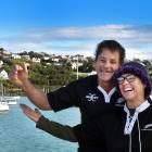 Jackie Morison and Dave Hart, on their vessel Hansel, have been in their bubble at Oamaru Harbour...