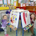 Balclutha Playcentre members Miriam and Hannah (3) Broekhuizen (left), and Alice and Sam (3) Reid...