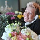 Carley Jones, manager of Joseph Jones florist in Dunedin, was flat out yesterday taking phone...