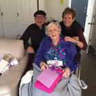 Patrick and Anne Hunter with Patrick's mother, Eileen Hunter, who died at the weekend. Photo:...