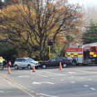One man was taken to hospital after a two vehicle collision on the corner of St Andrew St and...