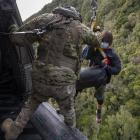 The search and rescue operation under way at Kahurangi National Park. Photo: NZ Defence Force
