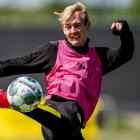 Borussia Dortmund's Julian Brandt at a training session ahead of the match against Schalke 04...