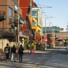 Oxford Tce, looking towards the Hereford St intersection where the bollards will be installed....