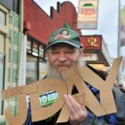 John Wilson uses the annual J Day protest on Saturday to encourage Dunedin residents to vote '...