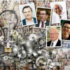 Clockwise from left: CTU president Richard Wagstaff, Finance Minister Grant Robertson, economist...